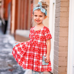 Be Girl Clothing                      Playtime Favorites Boughs Of Holly Picnic Tunic Dress - All Is Bright **PRE-ORDER**