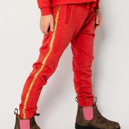 Paper Wings     Classic Trackies - Vintage Red w/Gold Side Stripes