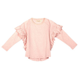 Paper Wings     Frilled Smock Tee - Soft Pink Marle