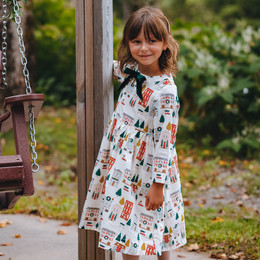 Pink Chicken         Holiday Margaret Dress - Holiday Townhouses