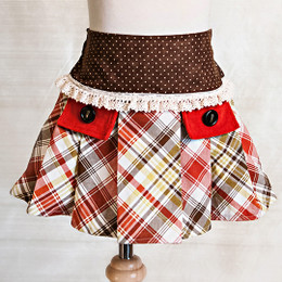 Persnickety Golden Girls Fern Skirt - Tartan - sz12M
