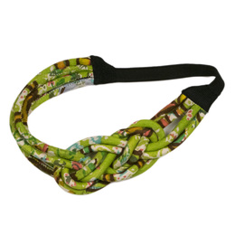 Jak & Peppar Stevie Head Wrap - Pea Lime Motif  (D1)