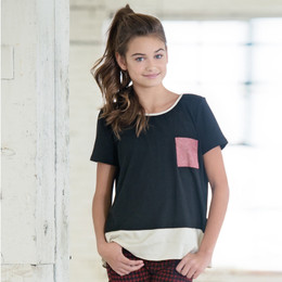 Persnickety Penny Lane Rayne Top - Black (8Y-16Y)