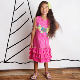 Lemon Loves Lime See You Later Alligator Dress - Fangdago Pink