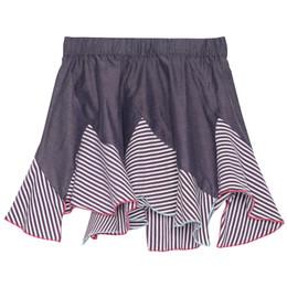 Deux Par Deux Je M'en Fish Chambray Skirt - Vintage Violet