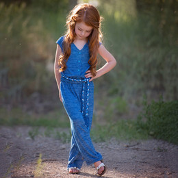 Persnickety Wonderstruck Farrah Jumpsuit - Blue