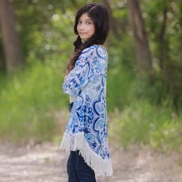 Persnickety Wonderstruck Sabrina Kimono - Blue - sz2,4