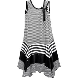 Isobella & Chloe Zebra A-line Sleeveless Dress - Black