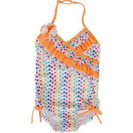 Isobella & Chloe Swimwear Candy Dots 1pc Swimsuit - Orange
