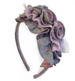 Isobella & Chloe Alyssa Rose Hard Headband - Pink