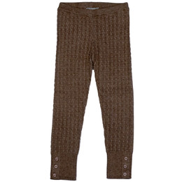Mayoral Cable Knit Leggings w/Button Accents - Topo Vig