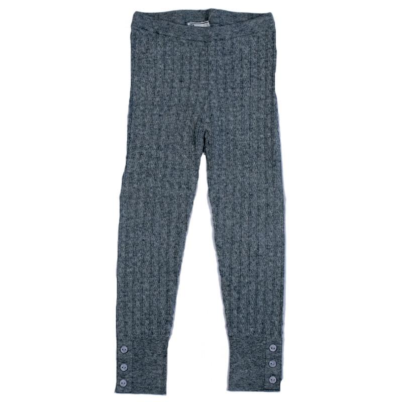 3d164338e295c3 ... Mayoral Cable Knit Leggings w/Button Accents - Chromium. Image 1