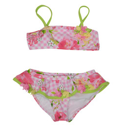 Kate Mack Gingham Garland 2pc Skirted Swim Bikini