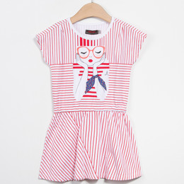 Catimini Paris Est Une Fete Graphic City Dress - Rouge