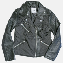 Mayoral Faux Leather Combo Jacket - Black