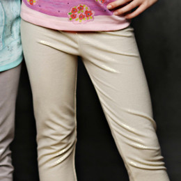 Lemon Loves Lime Stardust Leggings - Gold Sand