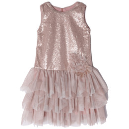 Isobella & Chloe Sophie Drop Waist Tiered Dress