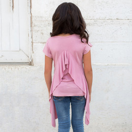 Joyfolie Briley Top - Dusty Rose