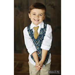 Mustard Pie Woodland Magic Boy's Vest - Navy