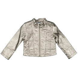 Mayoral Faux Metallic Leather Studded Jacket - Champan
