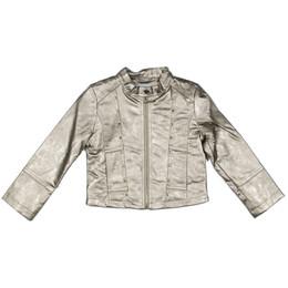 Mayoral Faux Metallic Leather Studded Jacket - Champan