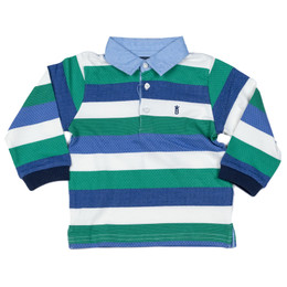 Mayoral Polo Striped Shirt - Edamame