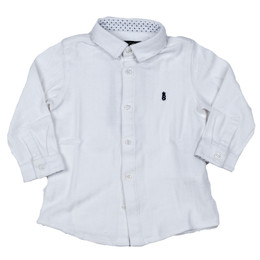 Mayoral Polo Knit Buttondown Shirt - Blanco