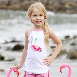 Lemon Loves Lime Secret Lagoon Flamingo Tropic Tank - White