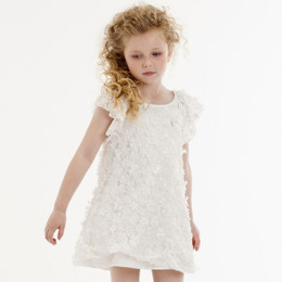 Biscotti Timeless Beauty Ruffle Dress - Ivory