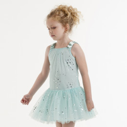 Kate Mack Fairy Dance Netting Dress - Aqua