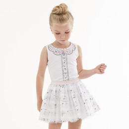 Kate Mack Prima Ballerina Skirt - White