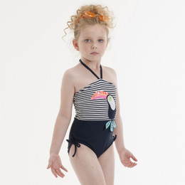 Kate Mack Daisy Crew Toucan Swim Tank - Navy/White