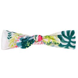 Deux Par Deux Summer Talk Headband - Foliage Print