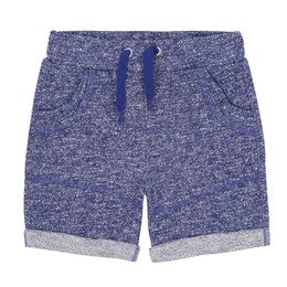 Deux Par Deux I Believe I Can Fly French Terry Bermuda Short - True Blue