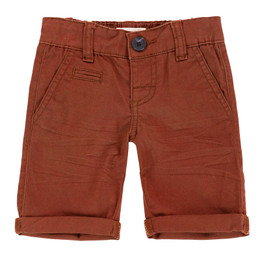 Deux Par Deux Talk Of The Woods Twill Bermuda Shorts - Brown Sugar