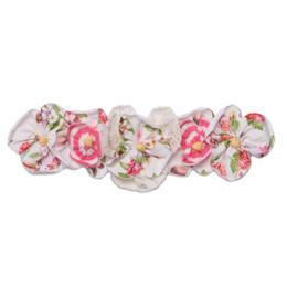 Isobella & Chloe Sweet Tea Elastic Flower Crown Headband - Pink