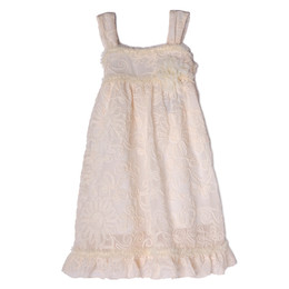 Isobella & Chloe Skyflower Embroidered Dress - Champagne