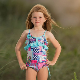 Isobella & Chloe Eureka 1pc Swimsuit - Multi