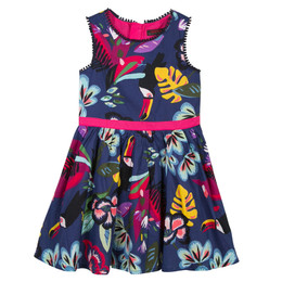 Catimini Nomade Tropical Garden Toucan Dress