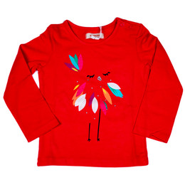 Catimini Nomade Tropical Garden Feathered Bird Tee