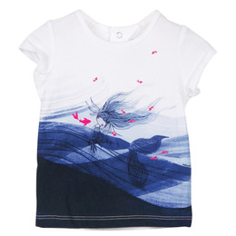 Catimini Creative Fantaisie Aquatic Garden Mermaid Tee