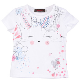 Catimini Graphic Floral Secret Garden Character Tee