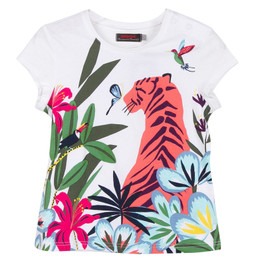 Catimini Nomade Tropical Garden Tiger Tee