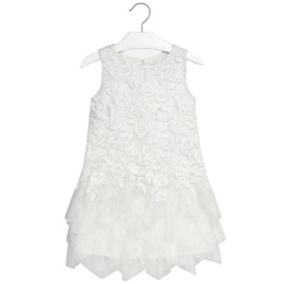 Mayoral Floral Lace Chiffon Dress