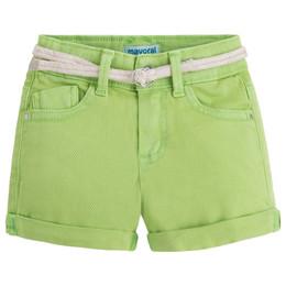 Mayoral Bamboo Twill Shorts w/Rope Belt