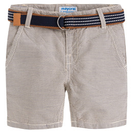 Mayoral Striped Bermuda Shorts w/Belt