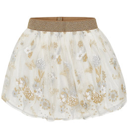 Mayoral Embroidered Tulle Skirt