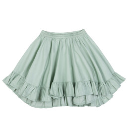 Paper Wings Frilled Drawstring Bustle Skirt - Pistachio Green