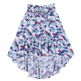 Paper Wings Mermaid Scales Shirred Bustle Skirt