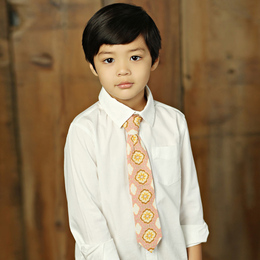 Mustard Pie Sweet Pea Boy's Necktie - Pink